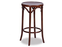 Original European Made Paris Slim Line Bentwood 68cm Timber Stool Embossed Sunset Seat - Michael Thonet Designed - Walnut  sc 1 st  Relax House & Thonet Bentwood Barstools islam-shia.org
