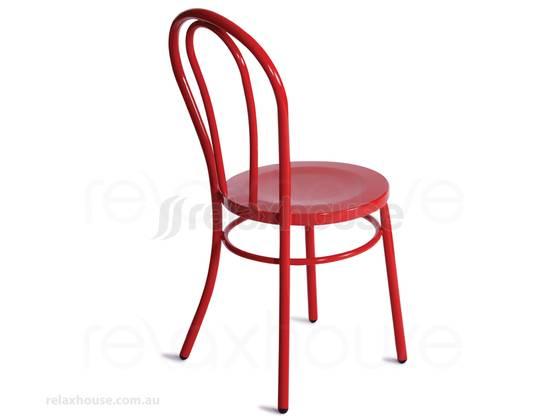 Red Thonet 18 Vienna Bentwood Steel Chair