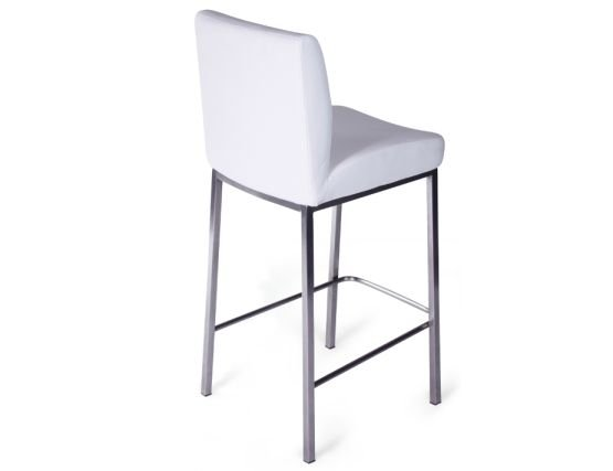 Designer White Fixed Stool