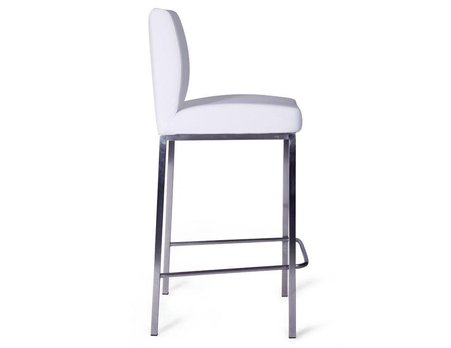 White modern bar stool for White breakfast bar stools