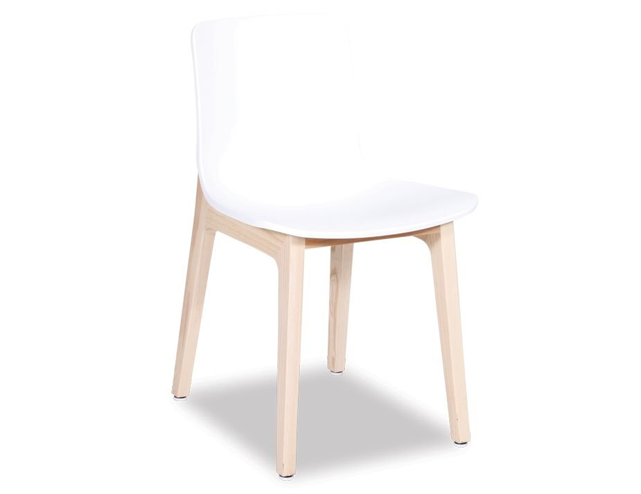 Ara Chair   Natural Solid Ash Frame With White Shell Seat
