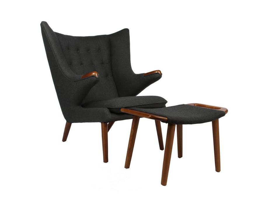 Papa Bear Chair Amp Ottoman Hans Wegner Reproduction