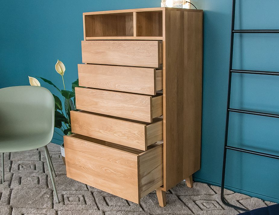 Copenhagen Oak Tall Boy Chest