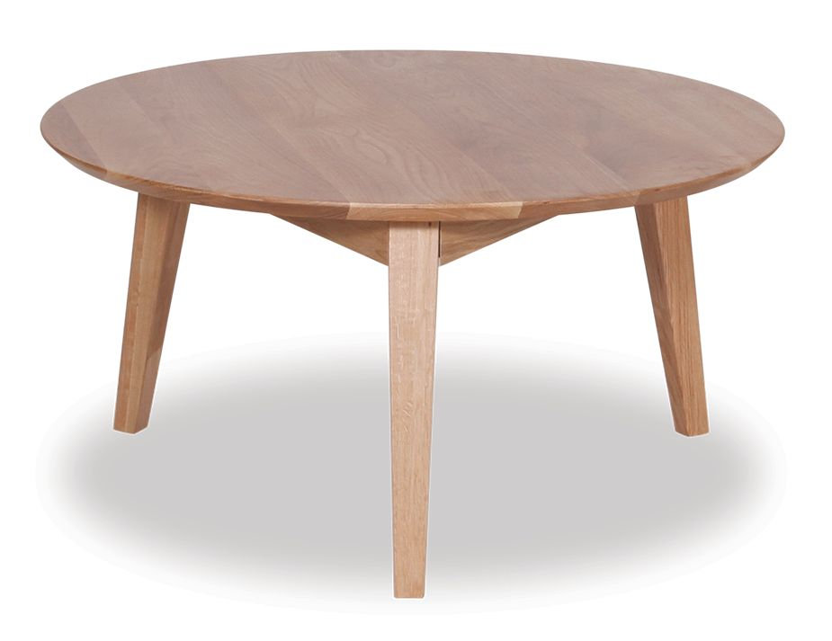 Natural Oak Modern Round Coffee Table