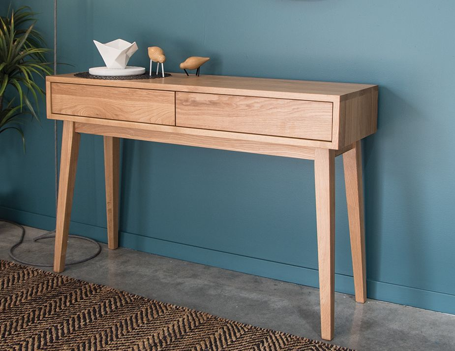 Modern Console Table Solid Oak Danish Furniture