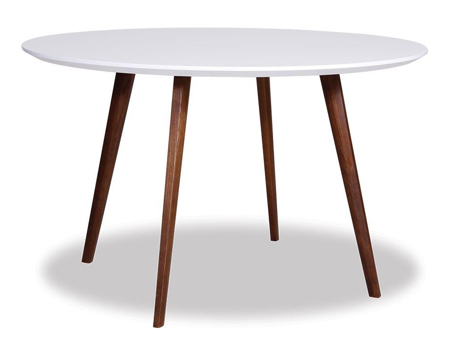 Halo Walnut Dining Table Replica Mario Cellini 120cm Round