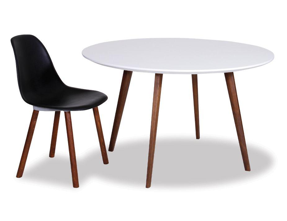 halo walnut dining table replica mario cellini 120cm round. Black Bedroom Furniture Sets. Home Design Ideas