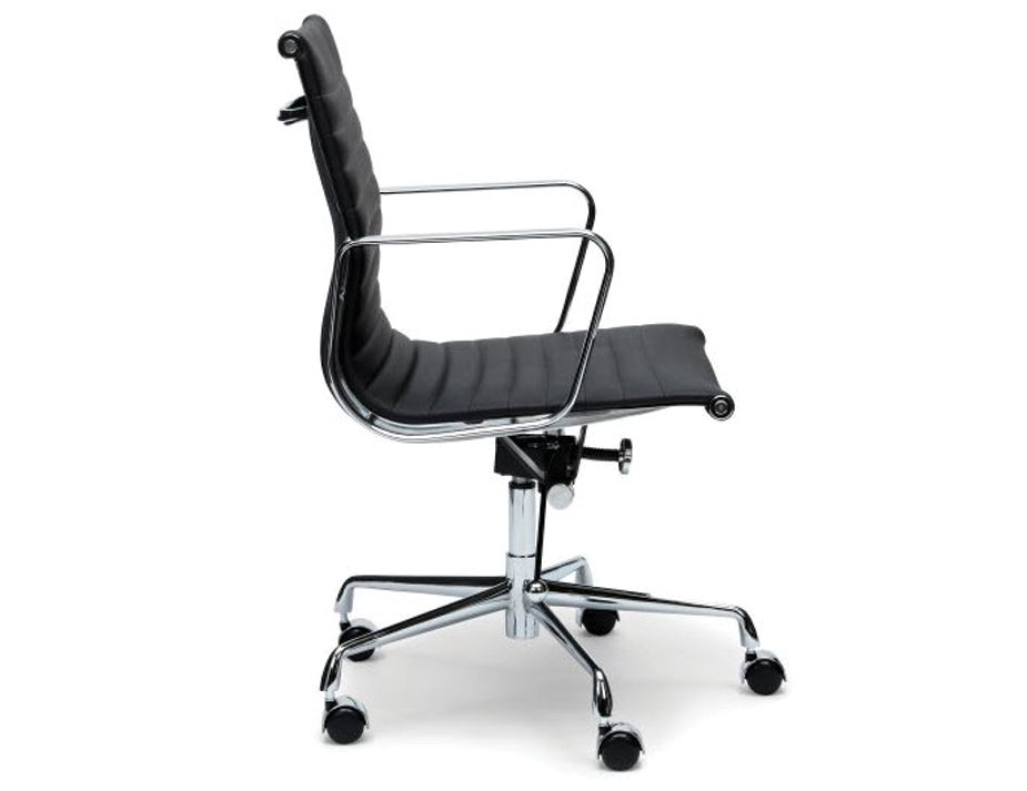 Eames Management Office Chair Black Leather Replica