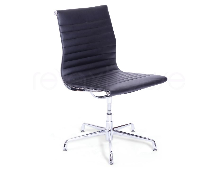 Replica eames aluminum group side office chair black fine for Eames alu chair replica