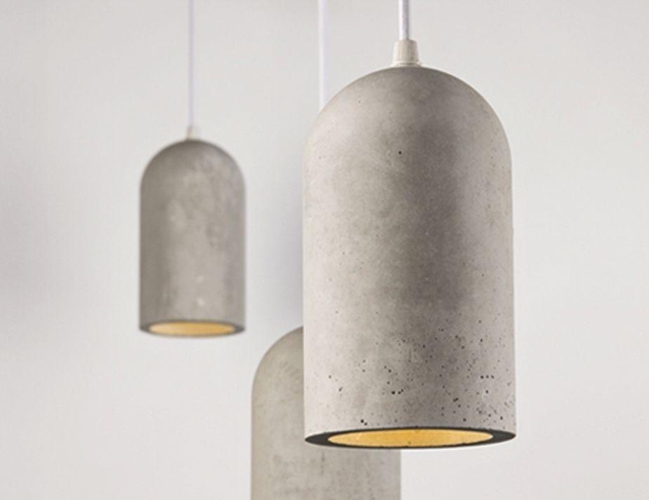 Unique Wood And Concrete Pendant