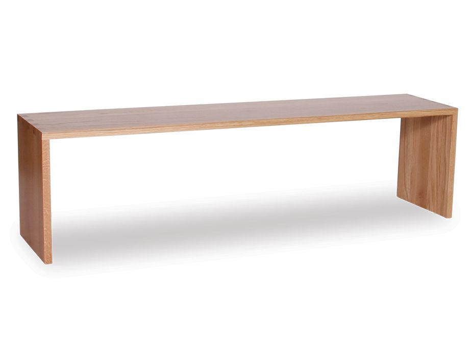 Indoor Modern Bench Seat In Solid Oak Wood 170cm
