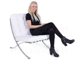 Barcelona Chair White Leather 2