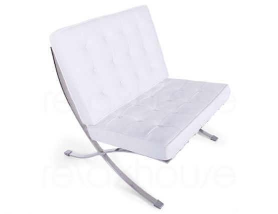 Barcelona Chair White Leather 3