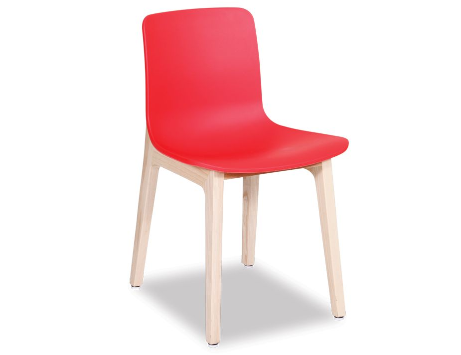 Modern Solid Timber Dining Chair Red