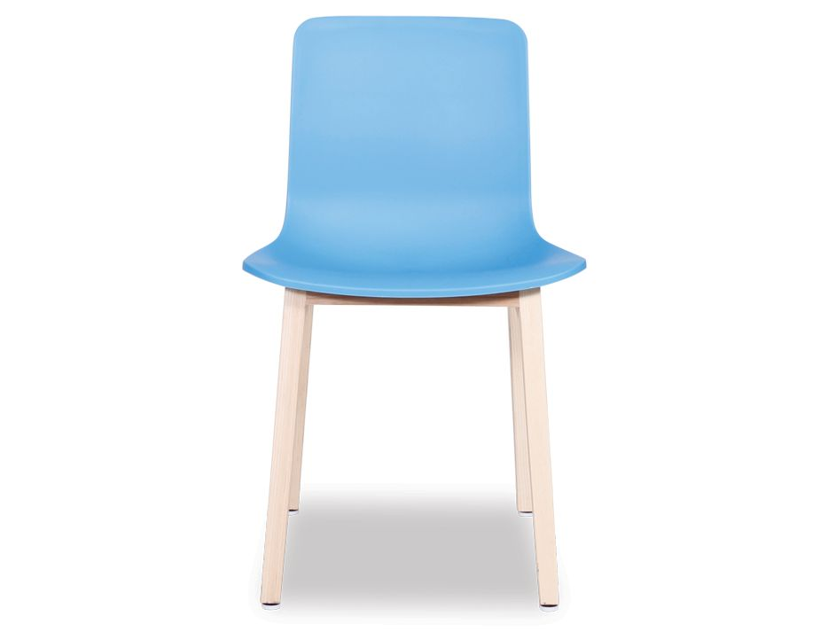 Contemporary Solid Dining Chair Blue