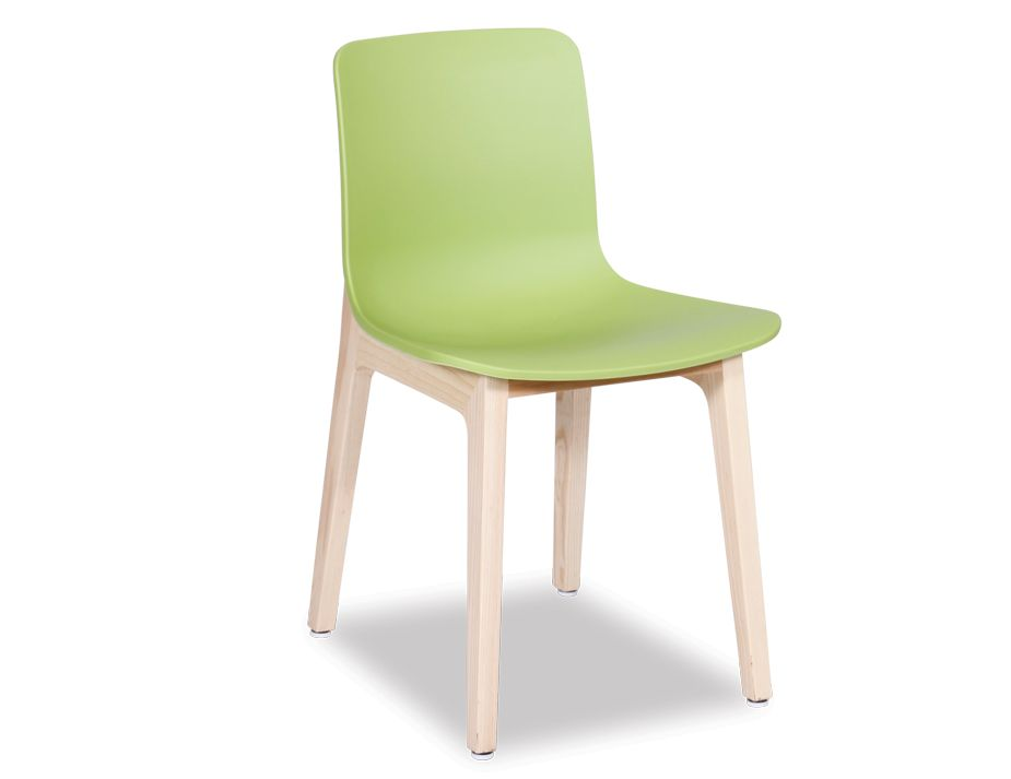 modern green dining chair solid wood frame plastic