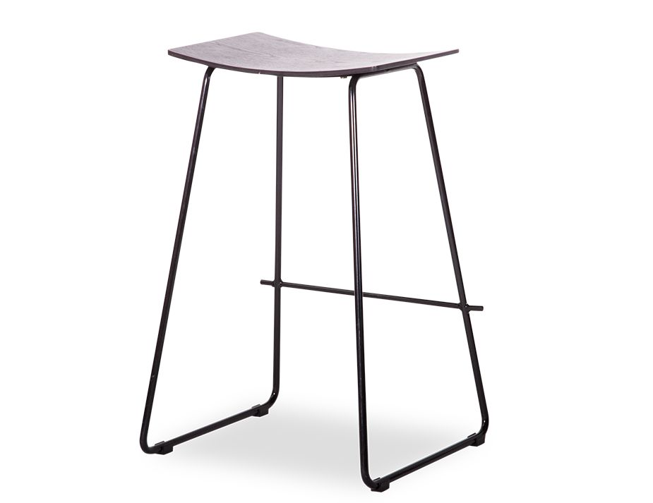 Hudson Counter Stool Black Seat Black Frame