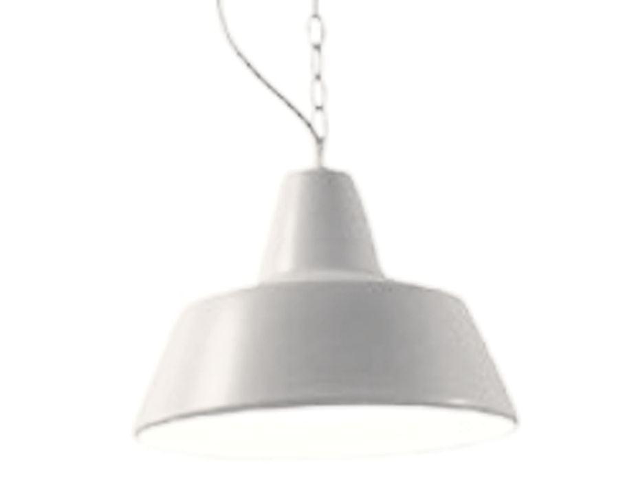 White Industrial Pendant Vintage Factory Light
