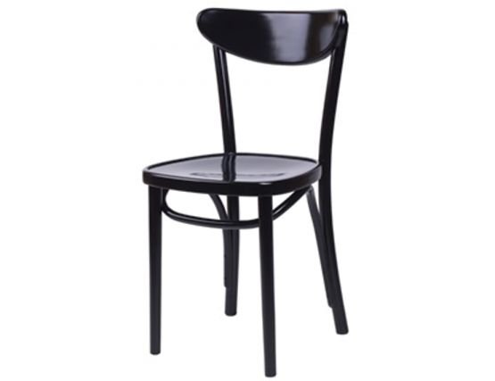 Black Round Bentwood Dining Chair