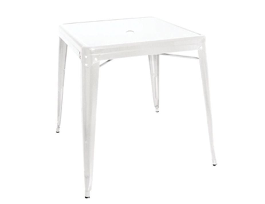 White balacony apartment square table for Table style tolix