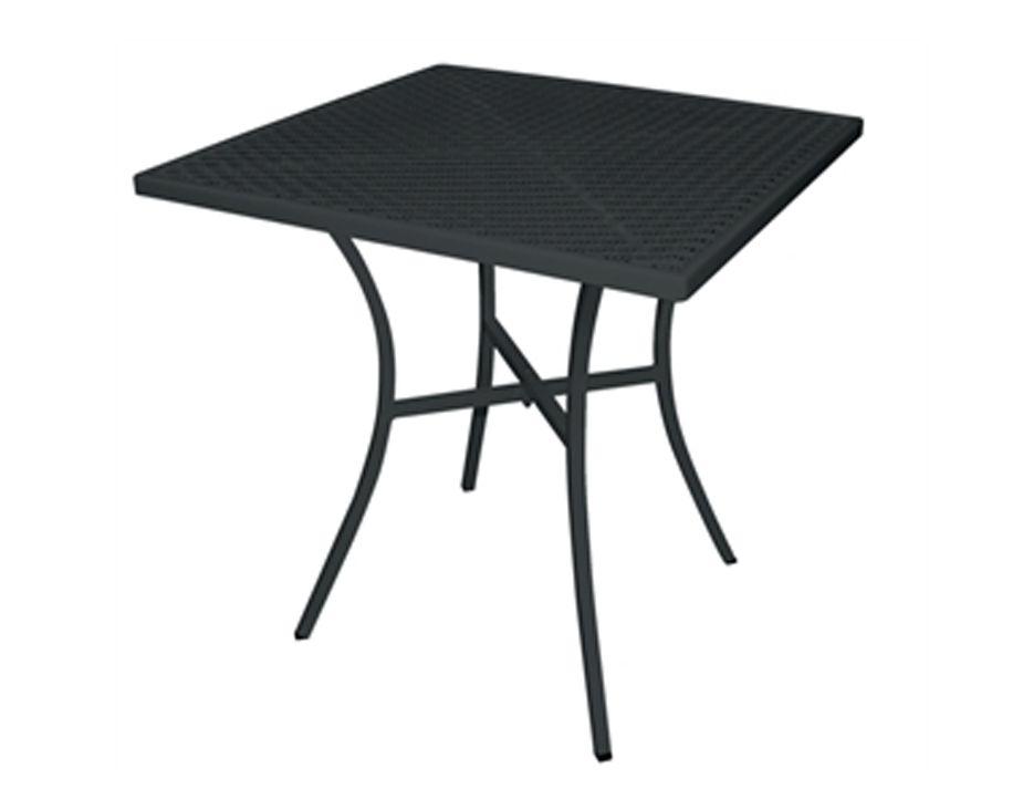 Black Steel Square Balcony Table Mesh