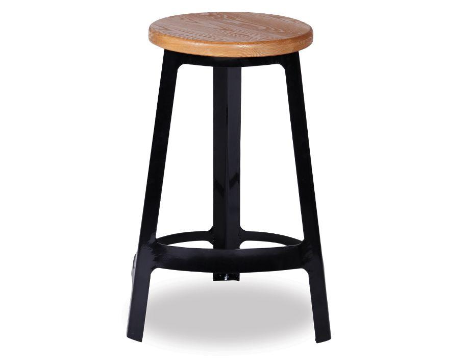 Black and wood bar stools replica deja vu counter for Wohnzimmertisch jumbo
