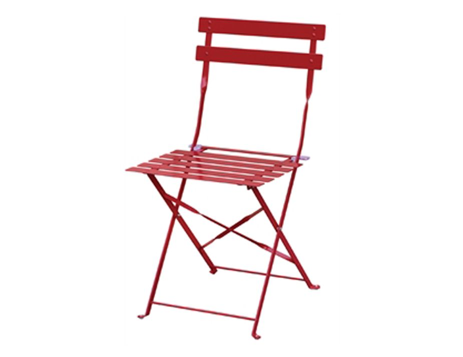 Attirant French Folding Chair Bistro Chair Red