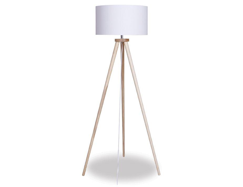 Modern White Tripod Floor Lamp