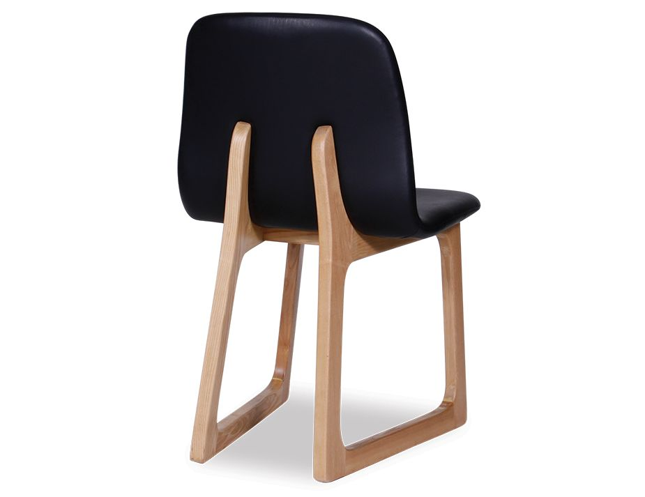 Danish style black modern dining chair for Contemporary black dining chairs