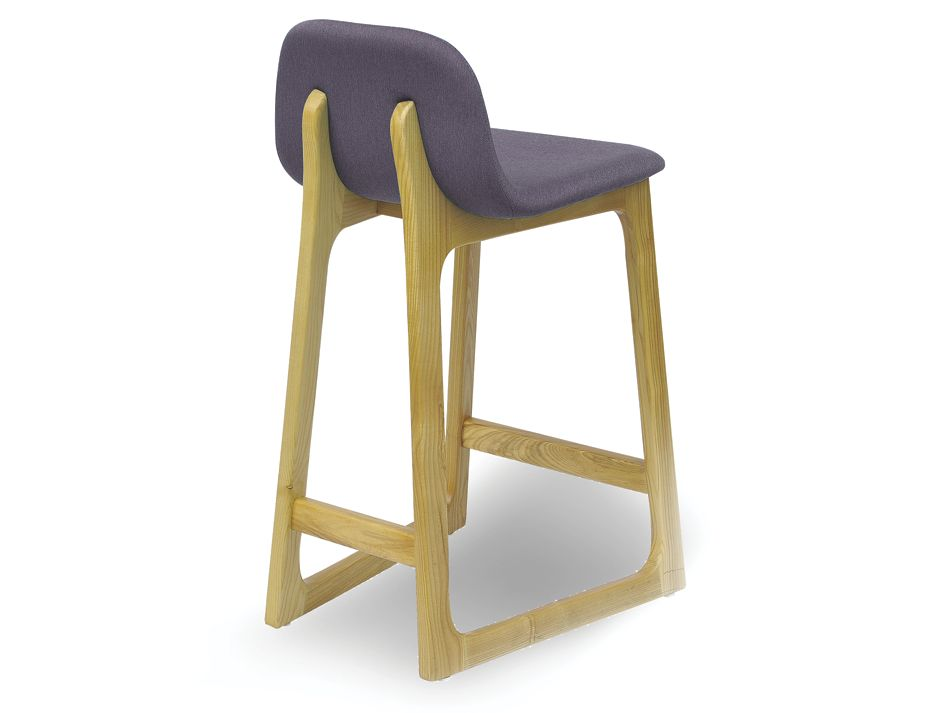 Grey Linen Upholstered Modern Wood Barstool : Campo scandinavian style danish bar stool dining chair natural ash linen grey from www.relaxhouse.com.au size 925 x 713 jpeg 38kB