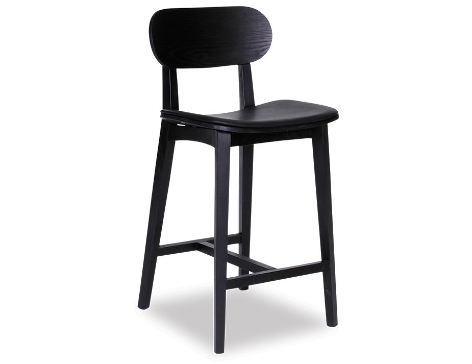 Saki Stool Black Pad