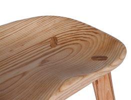 Rustic Saddle Seat Timber Counter Stool