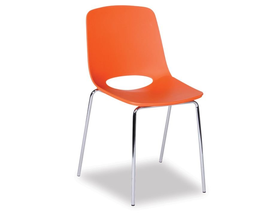 Orange Cafe Chair