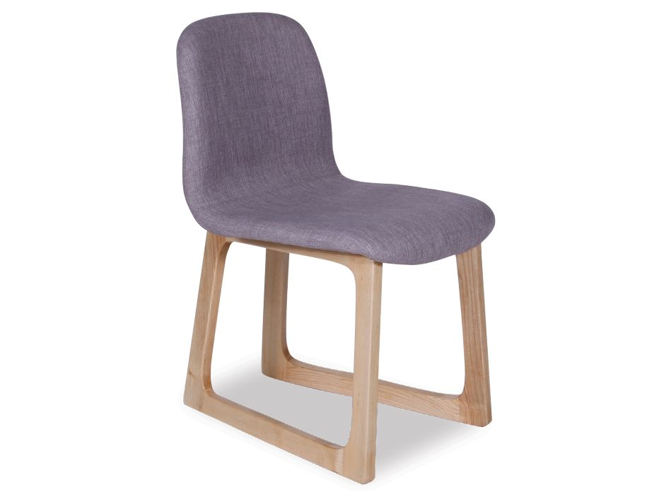 campo scandinavian timber dining chair natural american ash linen