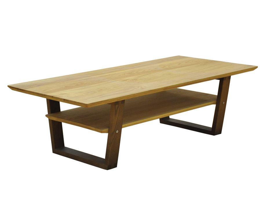 Dark oak square coffee table with storage and tempered glass top Dark wood coffee tables