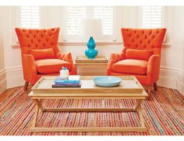 Lance-Chair-Button-Back-Arm-Chair-Orange-Insitu
