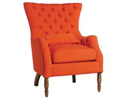 Lance-Chair-Button-Back-Arm-Chair-Orange