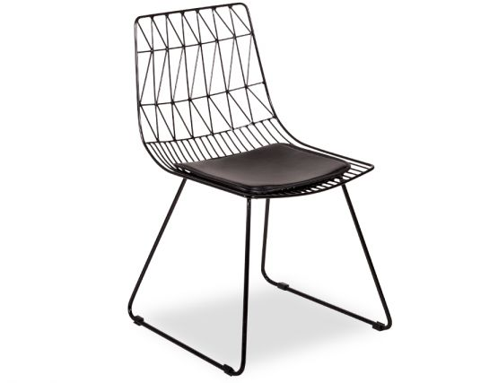 Kas Modern Wire Kitchen Chair  Black Stool