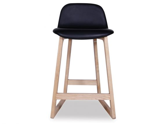 Modern Black Scandinavian Style Bar Stool