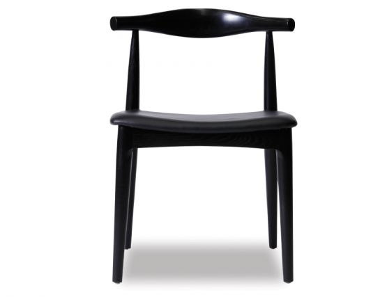 Black Stained Elbow Chair