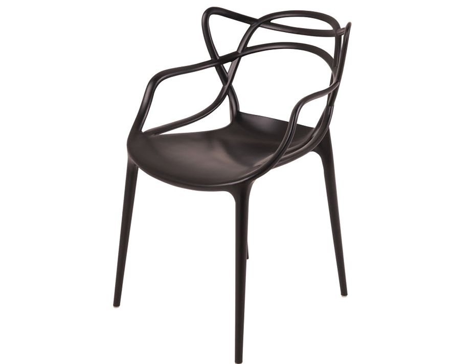 Masters replica chairs by philippe starck black set of 4 for Philippe starck chaise