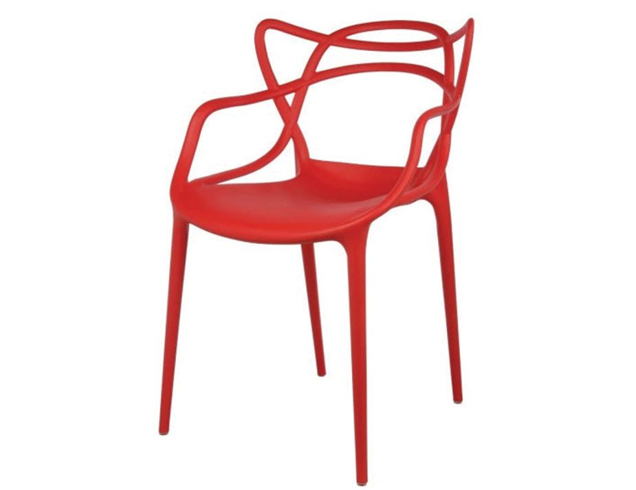 Masters Replica Chairs By Philippe Starck Red Set Of 4