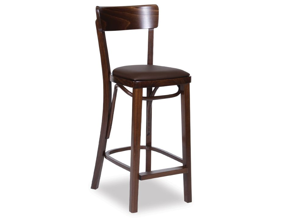 Bentwood Francois Bar Stool W Seat Pad Sunset Embossed