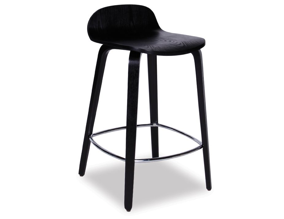 Flip Counter Stool Black Stained American Ash