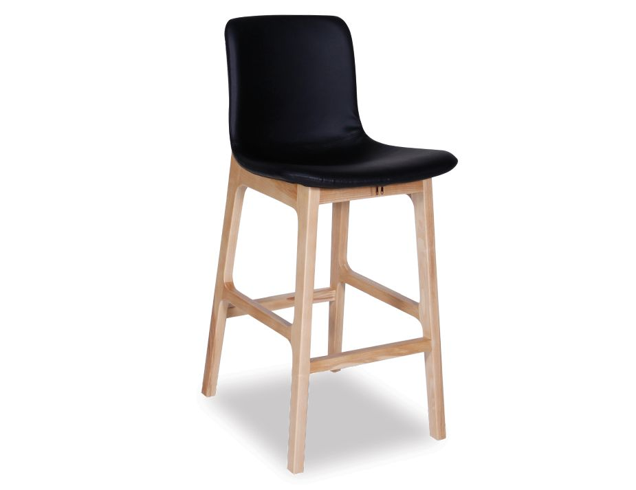 Black Upholstered American Ash Timber Kitchen Stool : padded bar stool from relaxhouse.com.au size 925 x 713 jpeg 29kB