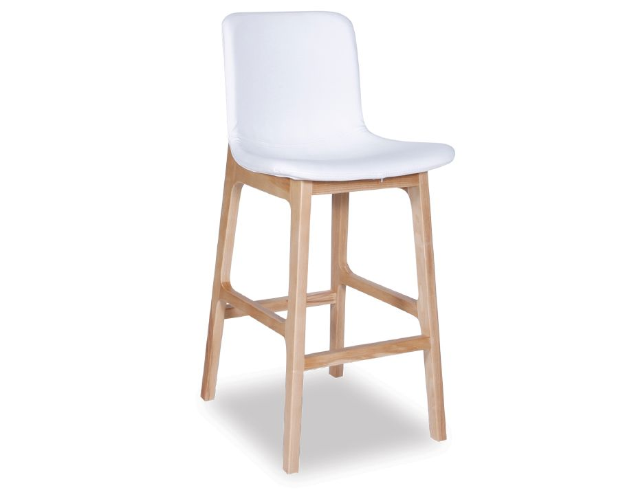 White Padded Counter Stool