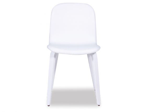 Flip Chair   White Upholstered Top   White Stained Wood Legs