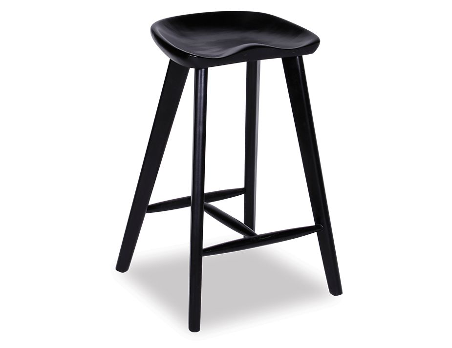 Black Saddle Stool Backless Counter Barstools
