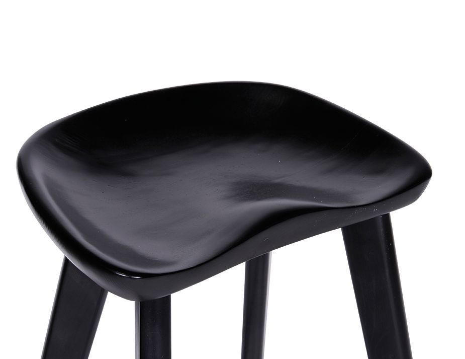 Black Saddle Stool Backless Counter Barstools