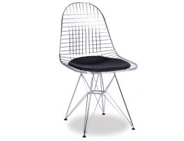 Eames DKR Chair Chrome Black Pad
